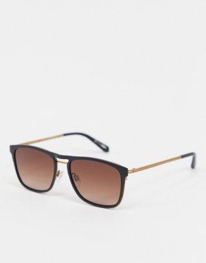 Черные солнцезащитные очки в квадратной оправе -Черный Ted Baker