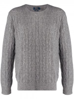 Chunky cable knit jumper Polo Ralph Lauren. Цвет: серый