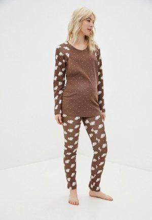 Пижама Fest. Цвет: коричневый