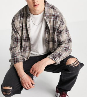 Черные мешковатые джинсы в стиле 90-х со рваной отделкой -Черный New Look