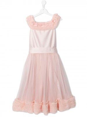 Платье с оборками Lesy. Цвет: розовый
