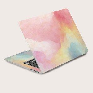 2шт омбре 15 дюймов Наклейка для ноутбука SHEIN. Цвет: многоцветный
