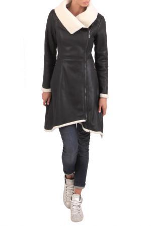 Sheepskin coat JUNONA. Цвет: черный