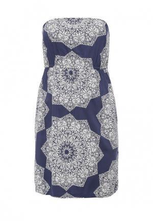 Платье Animal KIRA. Цвет: синий