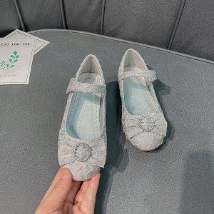 Для девочек Туфли мэри джейн SHEIN. Цвет: серебряные