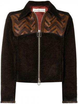 Fitted leather jacket Golden Goose. Цвет: коричневый
