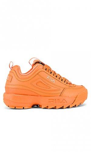 Кроссовки disruptor ii premium Fila. Цвет: оранжевый
