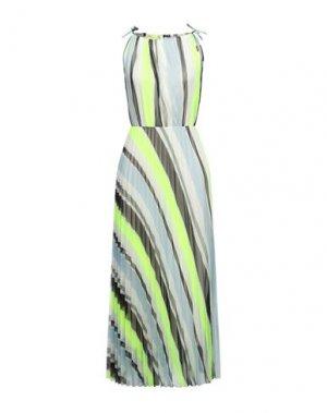 Длинное платье B.YU. Цвет: кислотно-зеленый