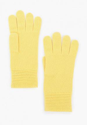 Перчатки United Colors of Benetton. Цвет: желтый