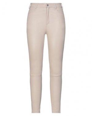 Повседневные брюки DROMe. Цвет: бежевый
