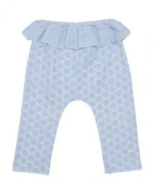 Повседневные брюки BISOUS. Цвет: небесно-голубой