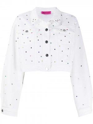 Укороченная джинсовая куртка IRENEISGOOD. Цвет: белый