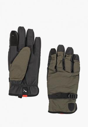Перчатки PUMA SF LS Gloves. Цвет: серый