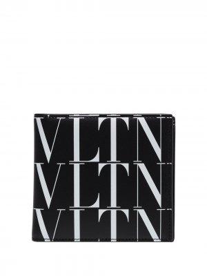 Бумажник с логотипом VLTN Valentino Garavani. Цвет: черный