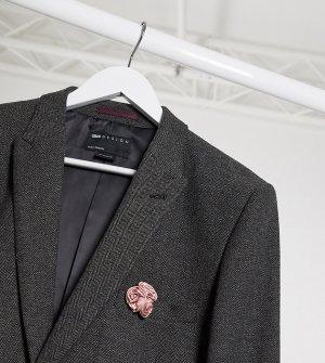 Темно-серый пиджак супероблегающего кроя с узором в елочку Tall wedding ASOS DESIGN