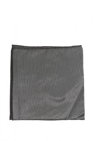 Карманный платок Bitsiani. Цвет: темно-серый блестящий