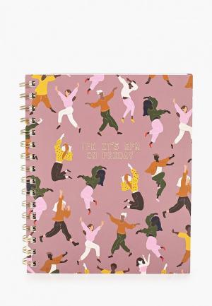 Блокнот Typo. Цвет: розовый