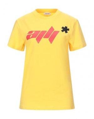 Футболка AU JOUR LE. Цвет: желтый