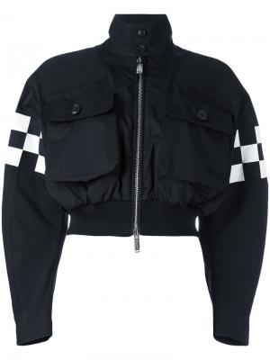Куртка-бомбер с панелями в клетку Dsquared2. Цвет: чёрный