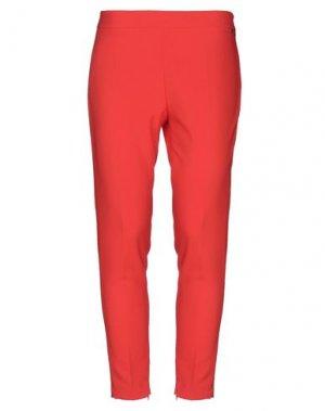 Повседневные брюки FLY GIRL. Цвет: красный