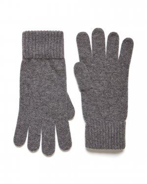Шерстяные перчатки Benetton. Цвет: серый