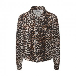 Джинсовая куртка Ganni. Цвет: леопардовый