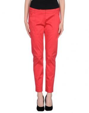 Повседневные брюки KOOKAI. Цвет: красный
