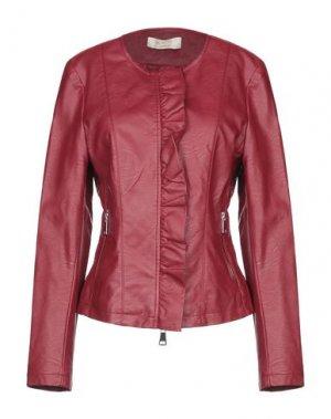 Куртка KAOS JEANS. Цвет: кирпично-красный