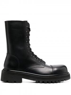Ботинки на шнуровке Vetements. Цвет: черный