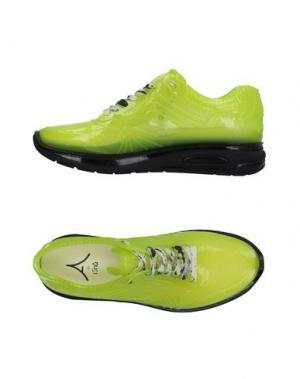 Низкие кеды и кроссовки AIRDP by ISHU+. Цвет: светло-зеленый
