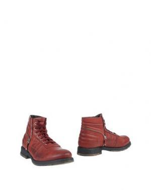 Полусапоги и высокие ботинки HENNE. Цвет: пурпурный