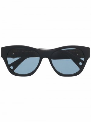 Солнцезащитные очки в квадратной оправе с логотипом LANVIN. Цвет: черный