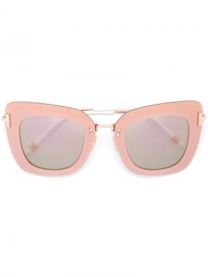 Солнцезащитные очки в оправе кошачий глаз Boucheron. Цвет: розовый и фиолетовый
