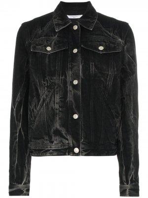 Джинсовая куртка с люверсами и выцветшим эффектом Givenchy. Цвет: черный