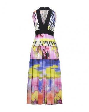 Платье длиной 3/4 FUZZI. Цвет: светло-фиолетовый