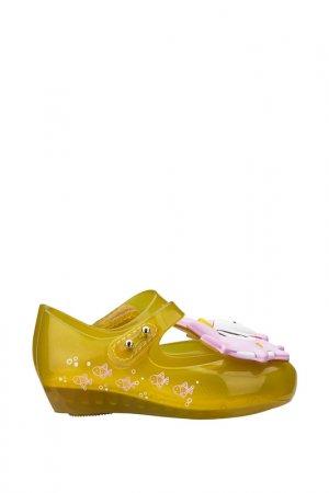 Туфли Melissa. Цвет: желтый