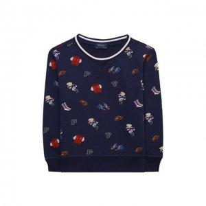 Хлопковый свитшот Polo Ralph Lauren. Цвет: синий