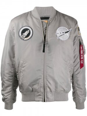 Бомбер MA-1 VF NASA Alpha Industries. Цвет: серебристый