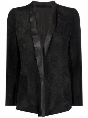 Замшевый пиджак Salvatore Santoro. Цвет: серый