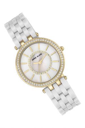 Часы наручные Anne Klein. Цвет: белый, золотой