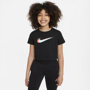 Укороченная футболка для танцев девочек школьного возраста Sportswear - Черный Nike