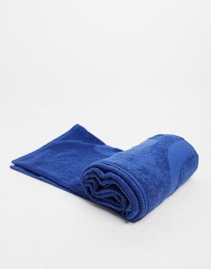 Синее пляжное полотенце -Голубой BOSS