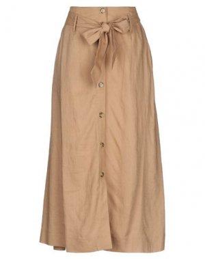 Длинная юбка B.YOUNG. Цвет: песочный