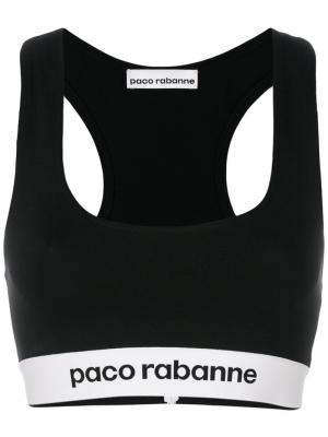 Elasticated waistband cropped top Paco Rabanne. Цвет: чёрный