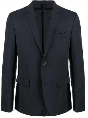 Однобортный пиджак с логотипом Fendi. Цвет: синий