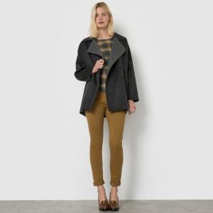 Пальто двухцветное LA REDOUTE COLLECTIONS. Цвет: серый/ антрацит