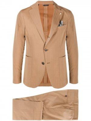 Костюм-двойка с однобортным пиджаком Manuel Ritz. Цвет: нейтральные цвета