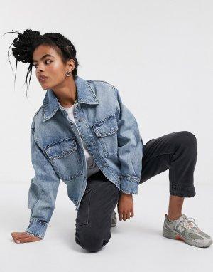Голубая джинсовая куртка с карманами -Синий & Other Stories