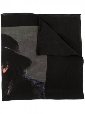 Бандана с принтом Yohji Yamamoto. Цвет: черный