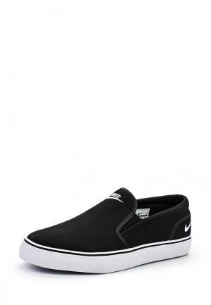 Слипоны Nike Mens Toki Slip-On Shoe. Цвет: черный
